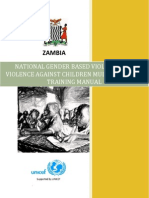 National Gender Based Violence and Violence Against Children Multi-Sectoral Training Manual