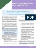 Asignatura pendiente - Las mujeres y las niñas como prioridad en la agenda post-2015