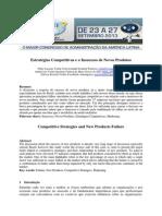 Estratégias Competitivas e o Insucesso de Novos Produtos