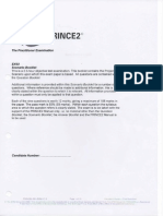 Prince2 - Practitioner Papers