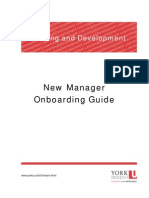 New Manager Onboarding Guide