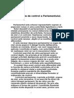 Functia de Control a Parlamentului