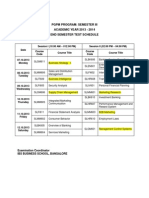 Sem III Time Table