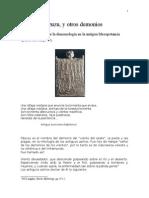 Pazuzu, Breve estudio sobre demonios y pandemias en la antigua Mesopotamia