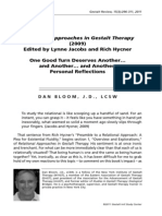 Relational Approaches in Gestalt Therapy