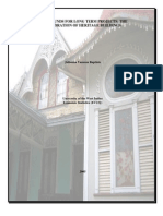 An  statistical analysis of Funds allocated to the restoration of Heritage Buildings in Trinidad and Tobago