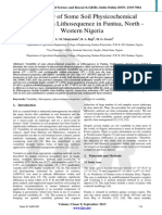 Variability of Some Soil Physicochemical Properties on Lithosequence in Funtua, North - Western Nigeria