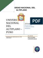 Plan de Relaciones Comunitarias Proyecto Pucara.