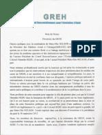 Note de Presse GREH