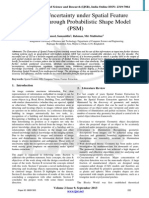 Handling Uncertainty under Spatial Feature Extraction through Probabilistic Shape Model (PSM)