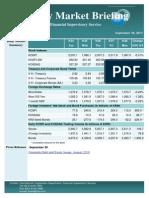 Weekly Market Briefing (September 30, 2013)