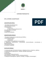 Anexo I - Conteúdo Programático