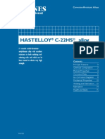 HASTELLOY®   C-22HS™alloy
