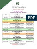 PNA July to December 2009 Seminars