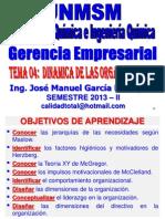 2013 II - GERENCIA EMPRESARIAL - CLASE Nº 04