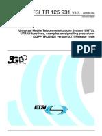 ETSI TR 125 931 V3.7.1 (2006-06)