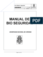 MA AHS-01 Manual de Bio Seguridad