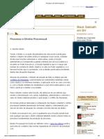 Processo e Direito Processual