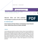 Adjuvant effect and TLR4 mediated activation of macrophages by polysaccharide from Polyporus albicans