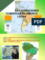 Climas y Poblacion de America Latina