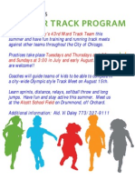 Summer Track Program 43rd Ward