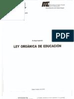 Anteproyecto de Ley de Educacion