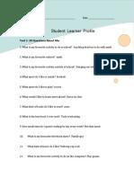 student learner profile