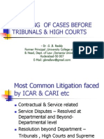 Handling Cases Befre Tribunals & High Courts