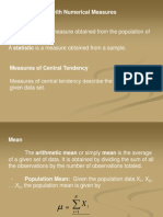 Numerical Measures