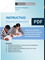 Sistema Admision 2013 Instructivo