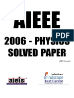 Solved AIEEE-2006 Physics Paper