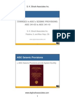 CHANGES in AISC's SEISMIC PROVISIONS: