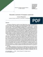 Hamaker Constants of Inorganic Materials