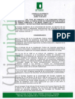 Concurso docenta UQ, 2013-2