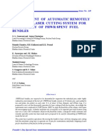 Development of Automatic Remotely Operable Laser Cutting System for Disassembly of PHWR Spent Fuel Bundles