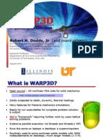 WARP3D Intro Lecture