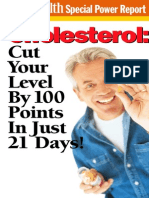 Cholesterol - Cut Your Level by 100 Points in Just 21 Days