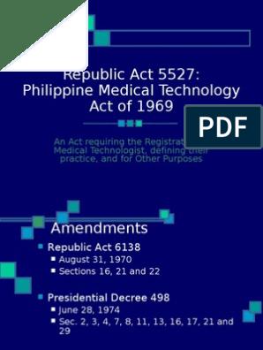RA 5527   Licensure   Test (Assessment)