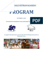 Official Horse Sale Extravaganza Program