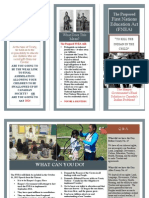 No First Nations Ed Act Brochure