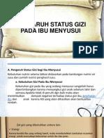 Pengaruh Status Gizi Pada Ibu Menyusui