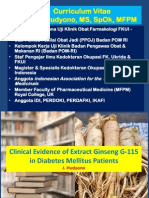 Clinical Evidence of Extract Ginseng G-115 in Diabetes Mellitus Patients (Dr. J. Hudyono, MS, SpO