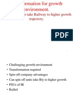 Realizing Valuation of Spin Off Units of Indian Railways