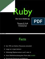Ruby - Eine kurze Einführung