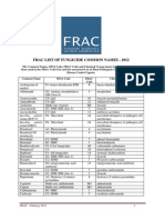 2012 FRAC List Fungicide Common Names