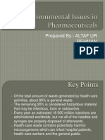 Environmental Issues in Pharmaceuticals