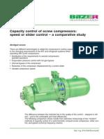 Capacity Control of Screw Compressor