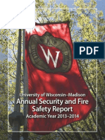 University of Wisconsin's Annual Security and Fire Safety Report
