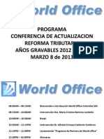 World Office Conferencia Reforma Tributaria 20130308