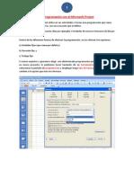La programación con el Microsoft Project